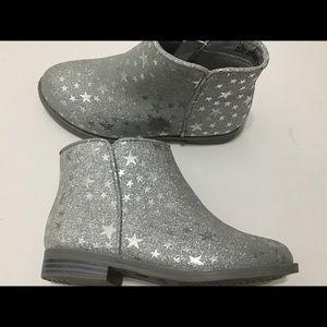 Cat k Jack silver boots Toddler Girl sz 9